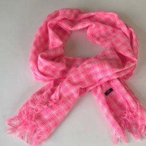 Cheerful seersucker cotton scarf